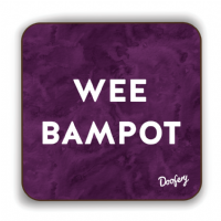 Doofery - Wee Bampot - Coaster - Purple